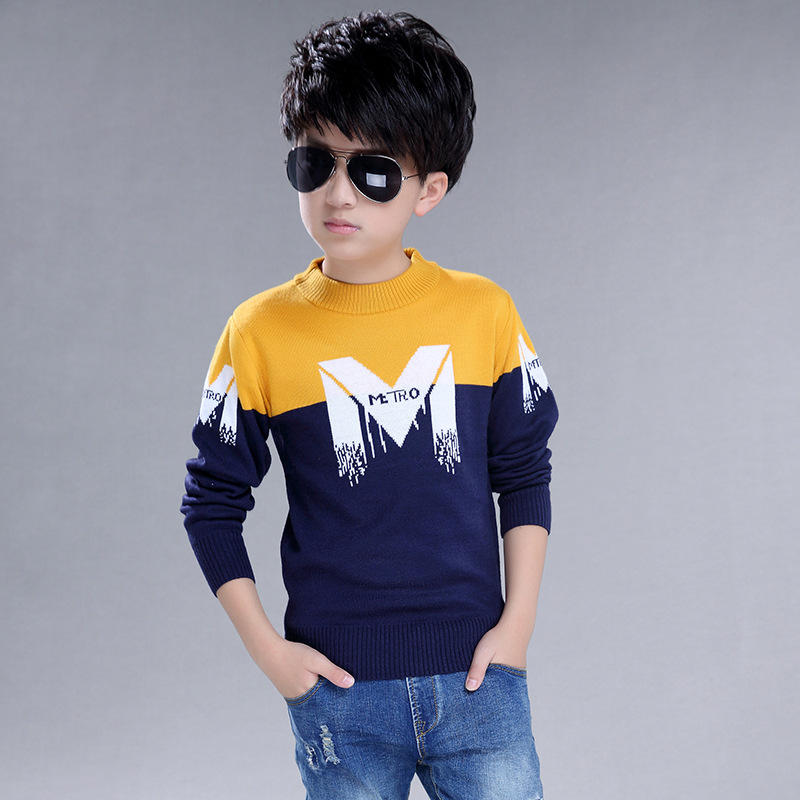Children's sweater  Winter New  Cotton Clothing Hedging Round collar Sweater boys Sweater Children's clothing 2