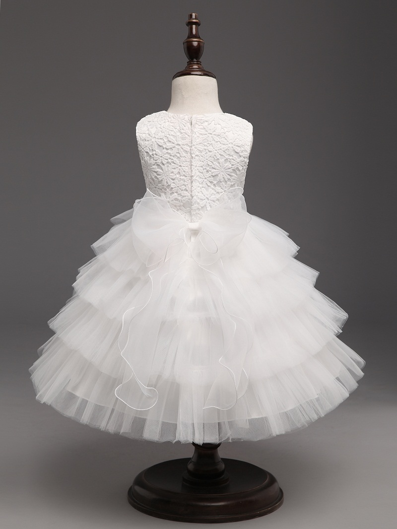 Infant Christening Gown Wedding Dress Tutu Fluffy Princess Dress