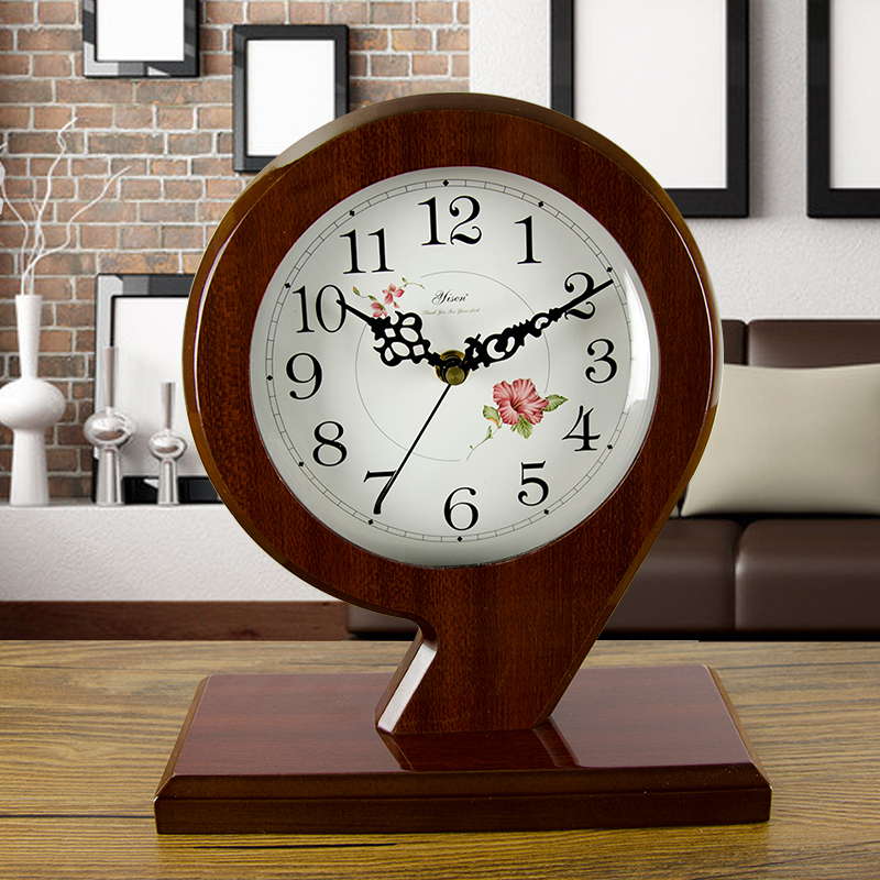 Classic 6 Inch Wooden Silent Table Clock Retro creative Art Desk Clock Home decro