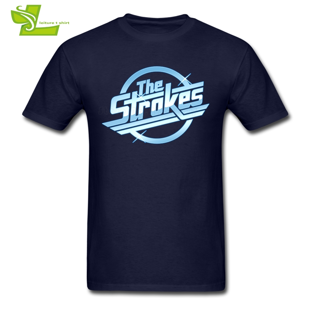 The Strokes   T     Shirt   Men Summer 100% Cotton Cool Tee Male Plus Size Clothing Summer Loose Teenboys Tee   Shirt   Albert Hammond Jr.
