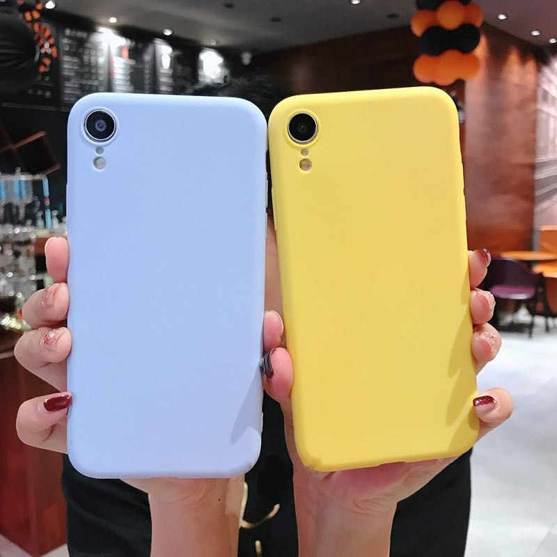 Ultra บางกรณีสีสำหรับ iPhone XS Max XR X Matte Candy tpu 7 7 Plus 6 6S 8 8 plus X xs max IPHONE11 Coque fundas