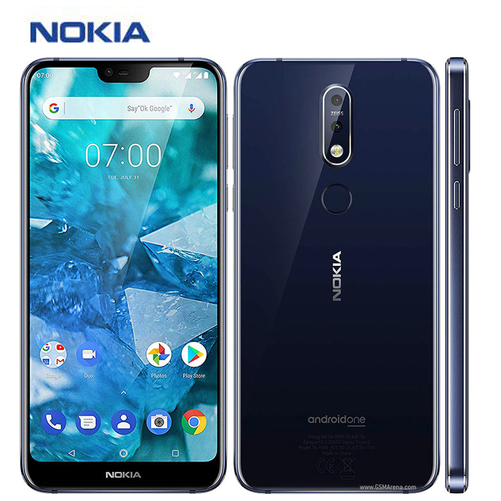 "International Version Nokia 7.1 Mobile Phone 4G LTE TA-1085 5.84"" Snapdragon 4GB RAM 64GB ROM Octa core Fingerprint NFC phone"