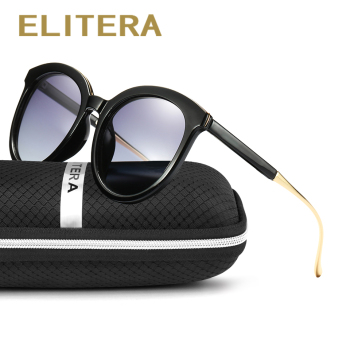 ELITERA Brand Design Fashion Luxury Lady Polarized Sunglasses Women Frame Cat Eye Sun Glasses Eyewear Shades UV400