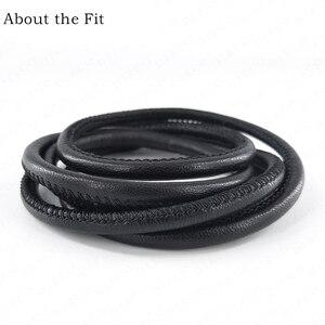 Image 2 - Cordes en cuir dagneau cousues 5mm 100M avec noyau en coton, cordes en cuir véritable en peau de mouton pour Bracelet, fabrication de bijoux