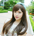 Kinky Straight Wig Bangs Womens Lady's Long Straight  Hair Full Wigs  Cosplay Kinky Straight Wig Bangs