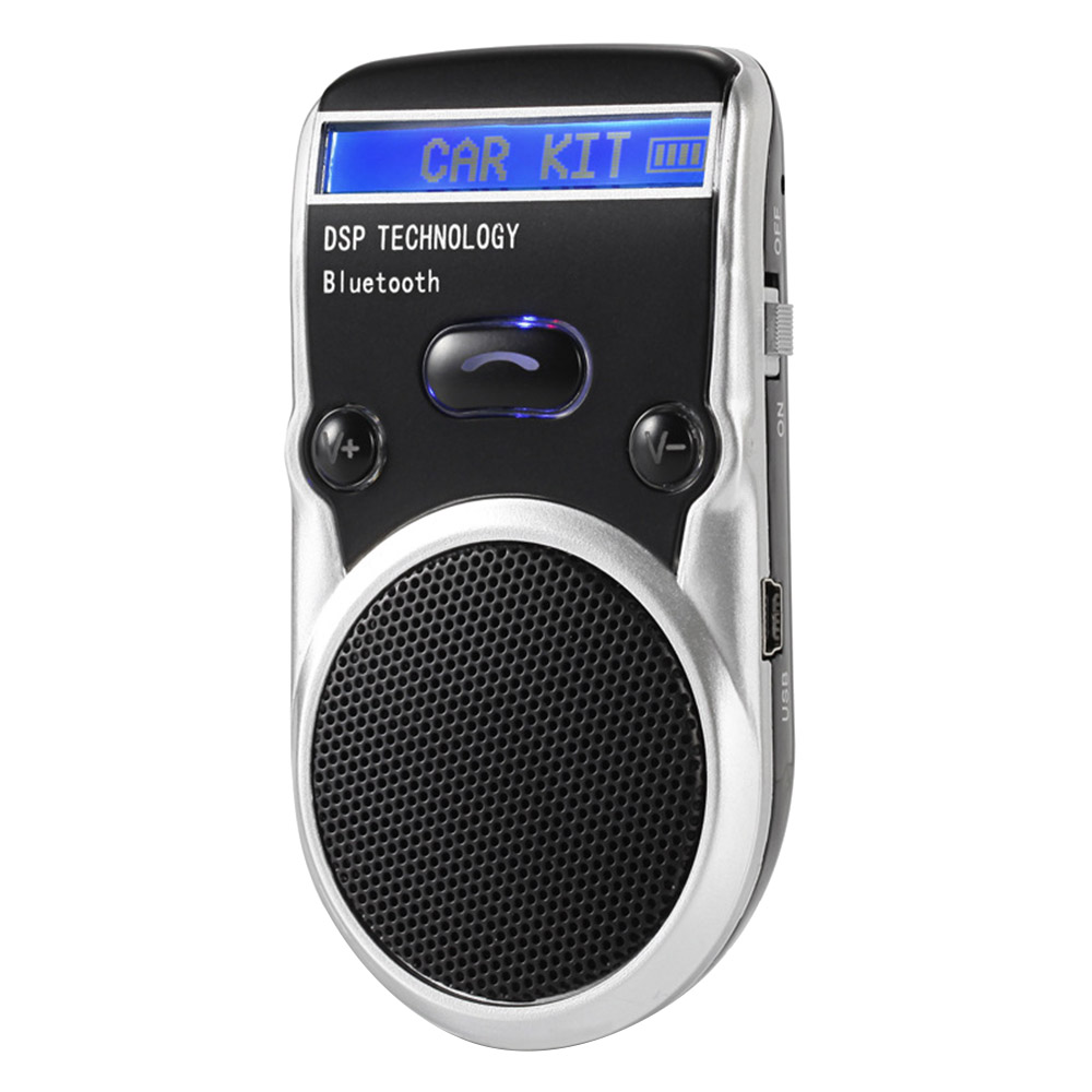 New Solar Energy Bluetooth Car Kit Lcd Display Handsfree Bluetooths Speaker Bluetooth Car Kit Convenience Caller ID High Quality|Bluetooth Car Kit| |  - title=