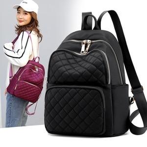 Image 1 - Sac à dos femme Style Preppy Nylon femmes sac à dos haute qualité étanche sacs à bandoulière adolescent étudiant sac pour filles sacs