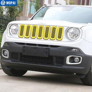 Image 4 - MOPAI ABS سيارة الخارجي إدراج غطاء شبكة تهوية أمامية أعواد تزيين ل Jeep Renegade 2015 2016 سيارة التصميم