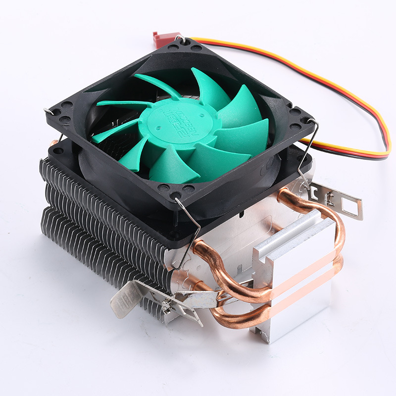 cpu cooler Copper double heat pipe CPU radiator brass tower cpu fan for INTEL 775/1150/1155/1156  AMD 754/939/AM2/AM3 huanghai luxury cpu radiator 775 115x cpu fan 4 heat pipe intelligent led fan