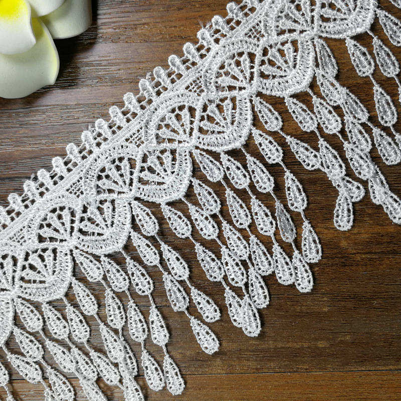Lace Doreenbeads Lace Ribbon Tape Quality Lace Trim Diy Embroidered Lace For Sewing Decoration African Lace Fabric 0.9m Low Price