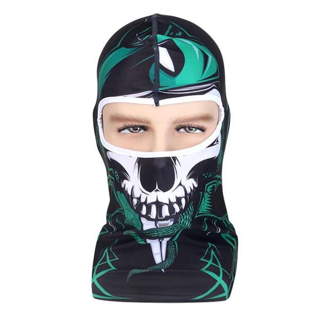 86bd789e526 Hot 3D Snowboard Motorcycle Bicycle Skull Cap Helmet Headgear Hats Outdoor  Protection Winter Halloween Full Cycling Face Mask