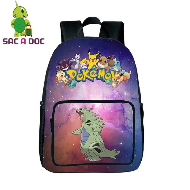 Galaxy Universe Pokemon Tyranitar Backpack for Teenagers Girls ...