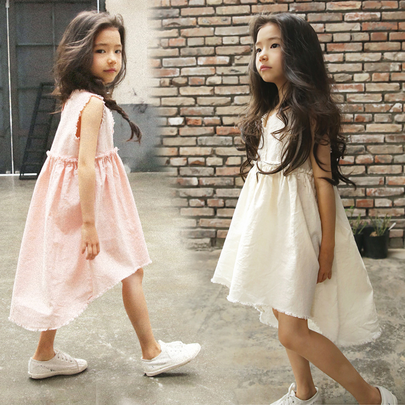 Girls Dress 2018 New Summer Kids Dress For Girls Lace Baby Girls Clothes Party Dresses For 3-14 Years Children Clothing korean new girls dress kids chest three dimensional flowers vest dresses children clothing 3 7 years