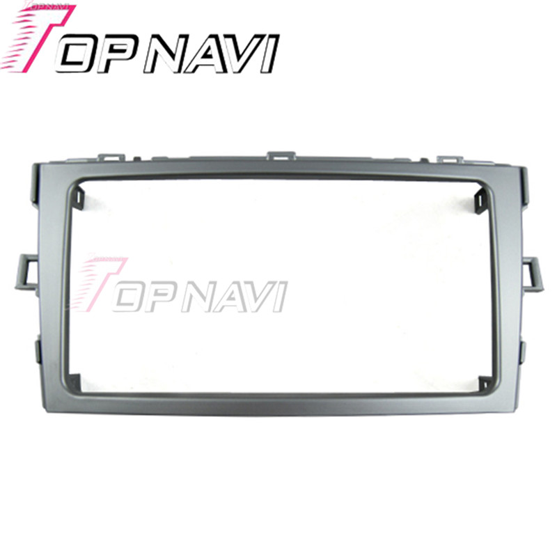 Topnavi 2 DIN qualité autoradio Fascia pour Toyota Verso 2011 Interface autostéréo tableau de bord Kit d'installation de garniture de CD