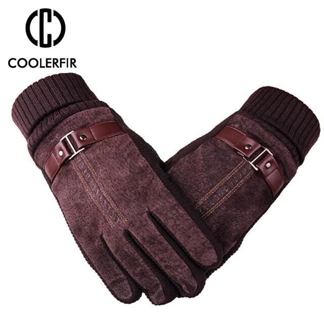 Зимние перчатки мужские из натуральной кожи 5