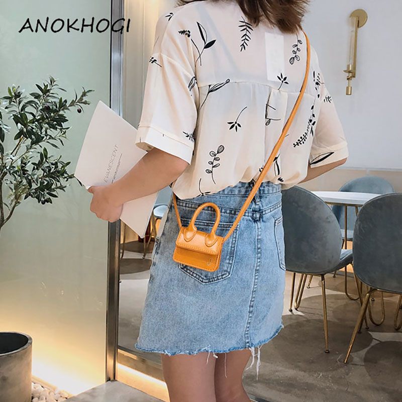 2019 Candy Color Women Mini Shoulder Bags Fashion Cash Card Small Crossbody Bag Tiny INS Hot Ladies Handbags B439
