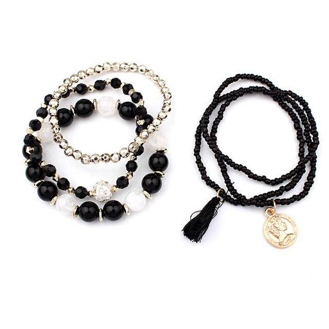 HOT Brand fishion Women girl Multilayer Beads Bangle Multiple colors Tassels Bracelets bangles 25#201809123010 5