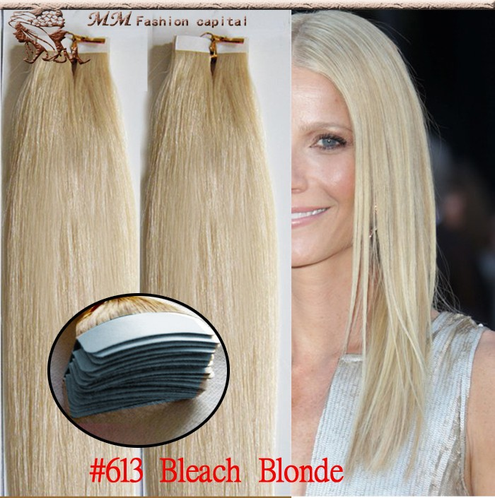 Tape in hair extensions 40 pieces cabelo humano tape 613 bleach tape in hair extensions 40 pieces cabelo humano tape 613 bleach blonde 18 20 22 40pcs 100gpack inexpensive in skin weft hair extensions from hair pmusecretfo Image collections
