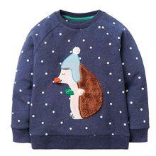 Soft Sweatshirts Printed Animal Sweater for Girls 2-7 Years