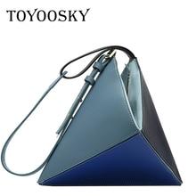 TOYOOSKY Retro Handbags Women Bags Designer Patchwork PU Leather Crossbody for Vintage Sac Female Shoulder Bag