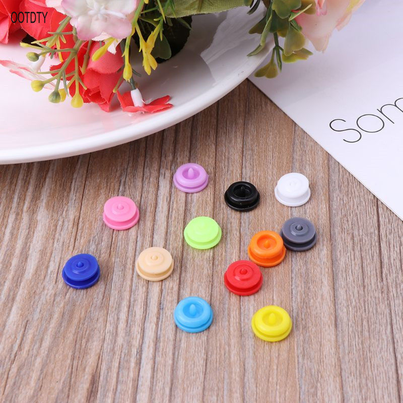 20 Sets T5 12mm Plastic Resin Snap Button Fastener Clips Quilt Cover Sheet Accessories For Cloth Diaper Craft in Buttons from Home Garden