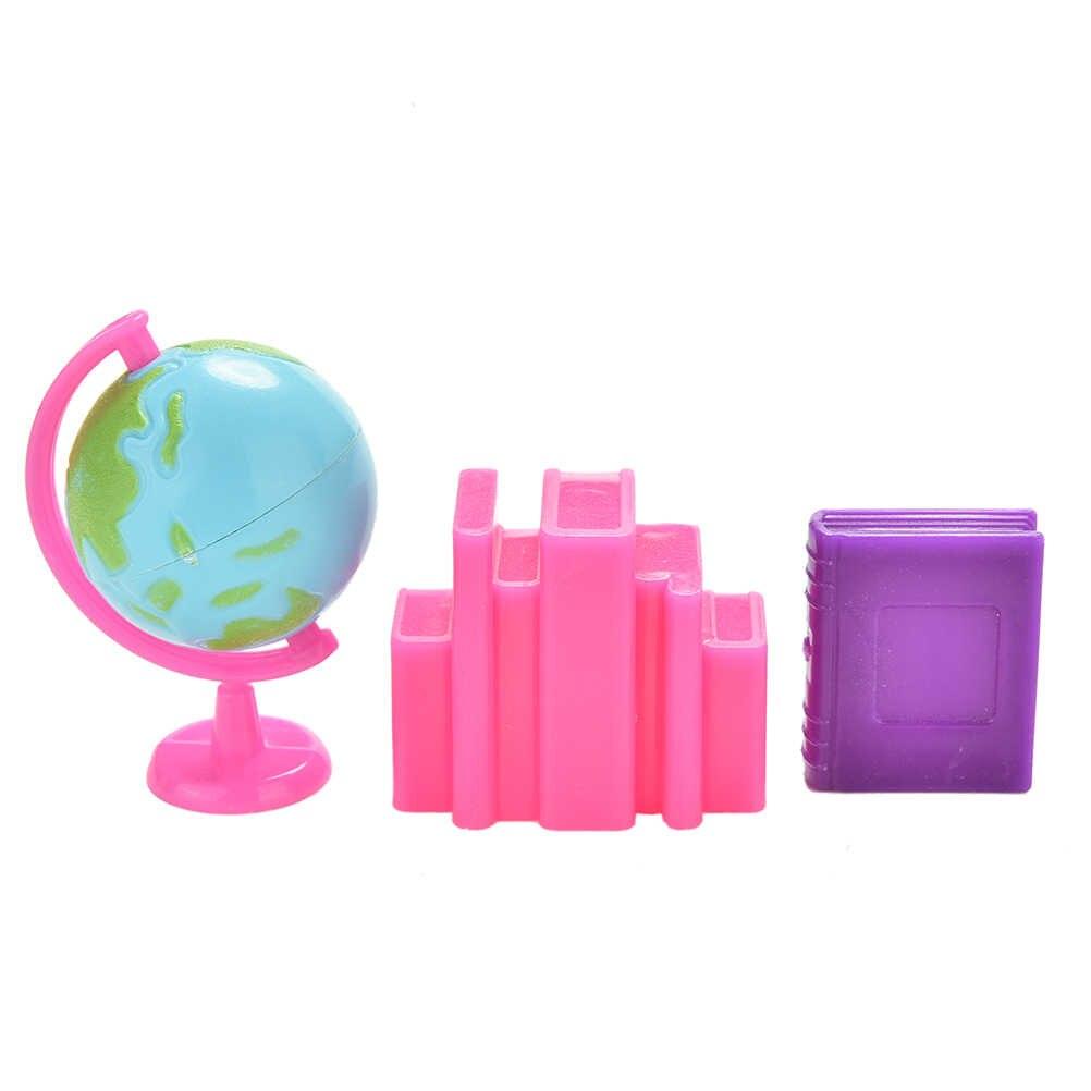 3 adet renk rastgele küre kitap çalışma oyuncaklar Barbie bebek güzel çocuklar hediyeler