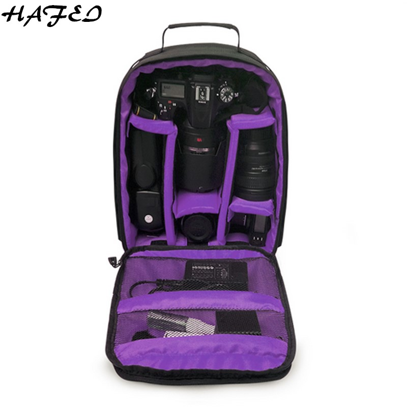 HAFEI Waterproof Multi-functional Digital DSLR Camera Video Bag+Rain Cover Backpack for Sony Canon Nikon D3200 D3300 D7100 D7500 multifunctional slr dslr shockproof waterproof camera rucksack backpack travel bag for canon eos 100d nikon d3100 d3200 d3300