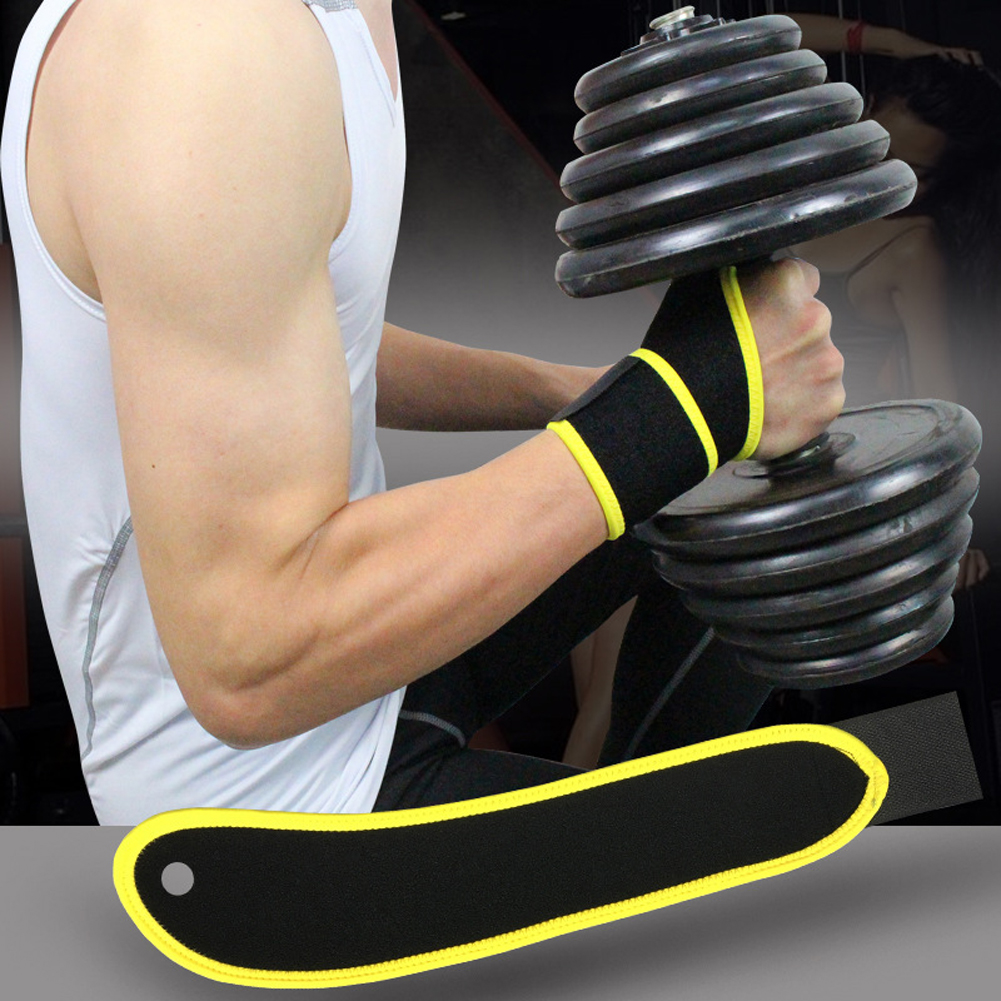 Adjustable Wrist Support Wrist Joint Brace Black Nylon Sport Safety Wristband Use For Ball Games Running Fitness