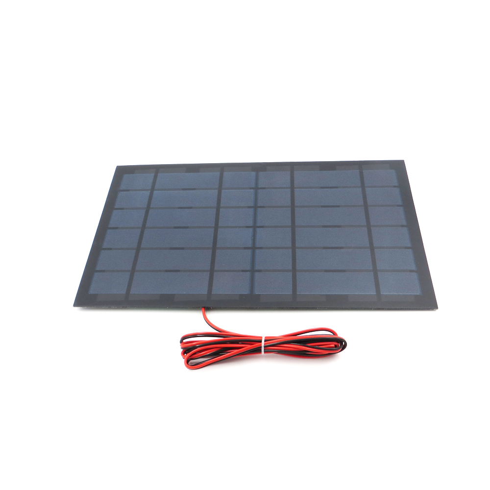 1pc x 6V 1670mA with 100cm extend wire Solar Panel Polycrystalline Silicon DIY Battery Charger Small Mini Solar Cell cable toy