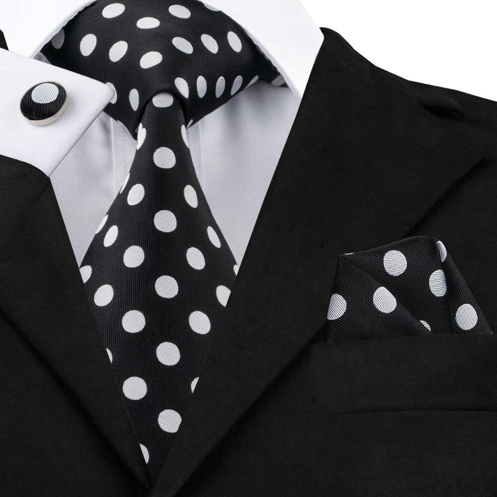 100/% Pure Soie Cravate Boutons de Manchette et Mouchoir Set Bleu Rouge /& Noir Rayures