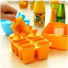 1 набор, 8 ячеек, сделай сам, замороженное мороженое, поп-форма, пищевая, Пластиковая форма для мороженого, леденец, форма для лотка, сковорода, кухонный инструмент, Круглый квадратный