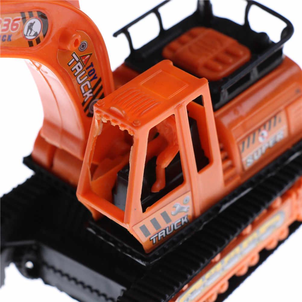 1 Pcs สูงจำลองพลาสติกขนาดใหญ่สีส้มวิศวกรรมขุดเครื่อง Excavator รุ่นเด็กของเล่น 12 ซม.* 6.2 ซม.* 14 ซม.