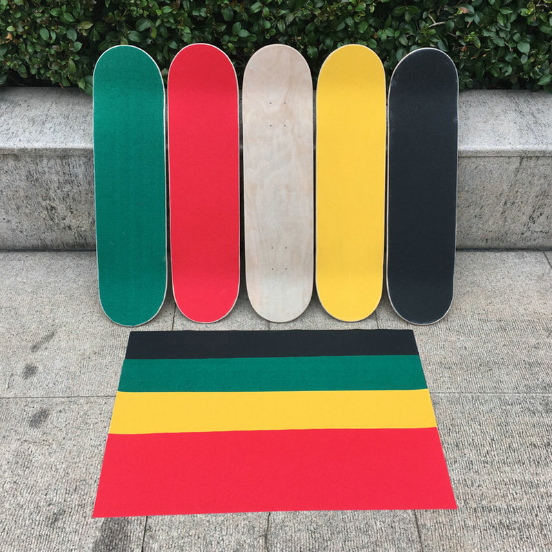 Free Shipping 84*23cm OS780 Skateboard Griptapes Silicon Carbide Skate Grip Tapes With Air Holes Sandpaper For Skateboarding