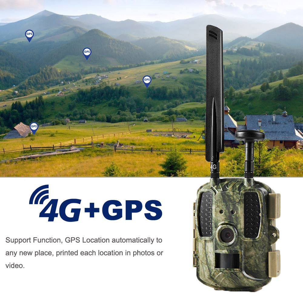 4G Hunting Camera GPS Photo Traps 12MP 4G FDD LTE Wild Cameras MMS Email GPRS GSM