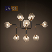 led e14 Nordic Iron Glass Clear LED Lamp LED Light Pendant Lights Pendant Lamp LED Pendant Light For Dinning Room