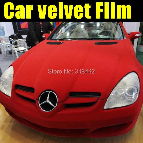Fluwelen Stof Auto-interieur Wrap Film met gratis verzending Fluwelen PVC auto sticker met lucht gratis bellen 10/20 /30/40/50/60X135 CM/LOT