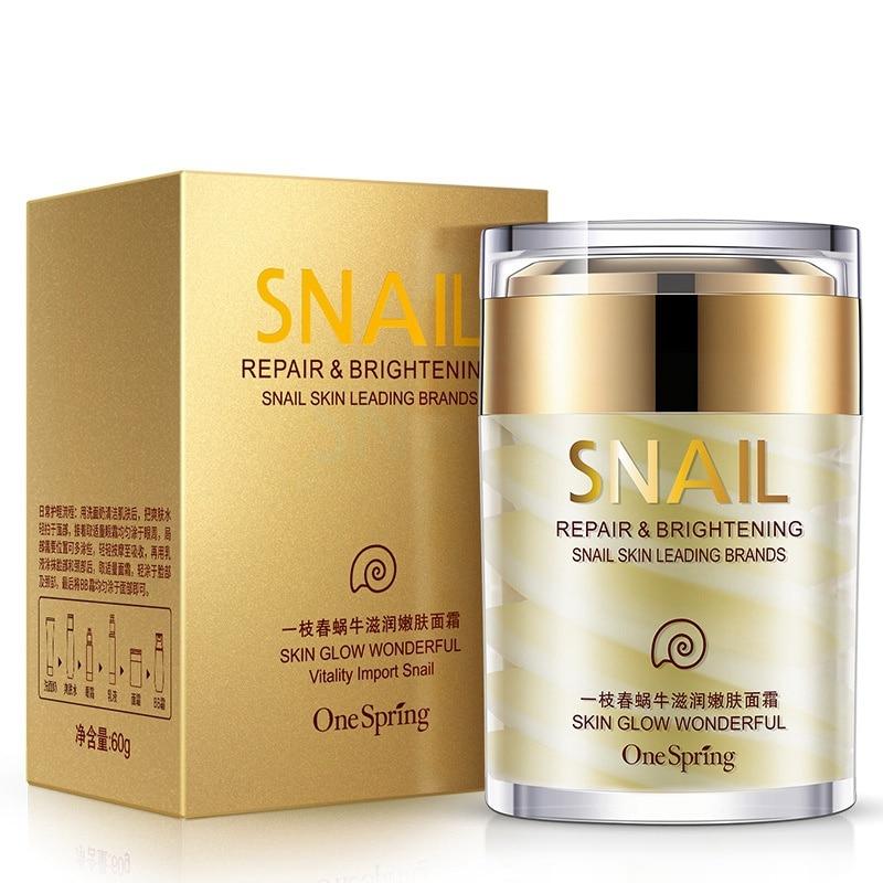 60g Natural Snail Cream Facial Moisturizer Face Cream Whitening Anti Wrinkles Lifting Facial Firming Skin Care Original