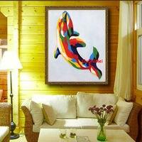 O envio gratuito de pintura a óleo pintado à mão 1 PCS pintura da arte da parede da lona pintura para decoração de casa decoração da parede do quarto