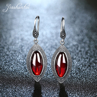 JIASHUNTAI Retro 100% Silver Drop Earrings Female Vintage Long Earrings 925 Sterling Silver Jewelry For Women