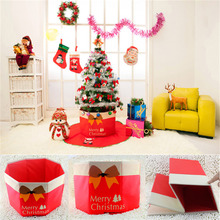 Non-woven Xmas christmas Tree Skirt Christmas foot box tree decorations 2016 ornaments for navidad