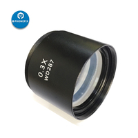 Phonefix wd287 wd177 0.5x 1.0x 2.0x trinocular microscópio estéreo lente objetiva para reparação do telefone lente auxiliar barlow Conjuntos ferramenta manual     -