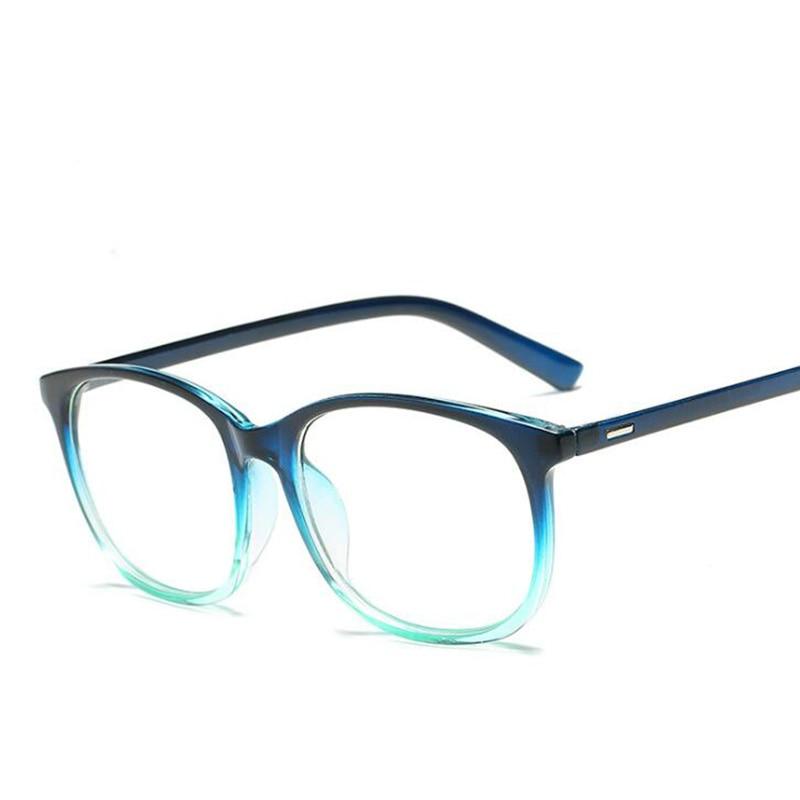 Women Retro Myopia Vintage Square Clear Glasses Frame Optical Transparent Blue Prescription Eyeglasses
