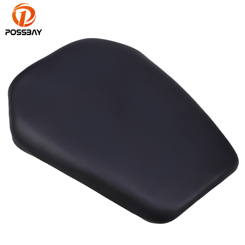 POSSBAY Motorcycle Leather Cushion Rear Seat Cover Fit For Honda CBR1000 2008 - 2012 Cafe Racer Motorbike Rear Passengers Seats
