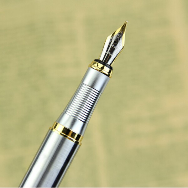 Top Selling Silver Fountain Pen JINHAO 250 M Nib Gold Trim Removable Ink Converter