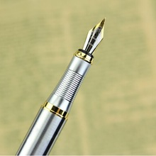 Top selling Silver Fountain Pen JINHAO 250 M Nib Gold Trim R