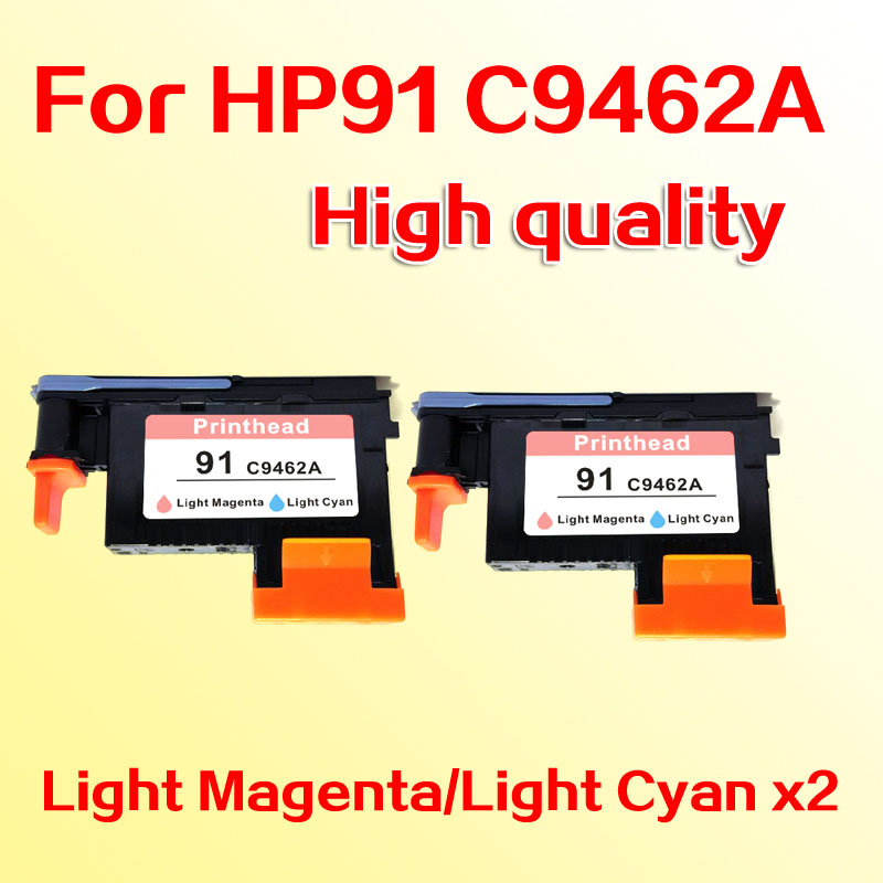 2pcs LM/LC printhead for hp 91 Designjet Z6100 Z6100P for hp91 C9462A for hp 91 designjet printhead c9460a c9461a c9462a c9463a for hp designjet z6100 z6100ps printer 100% genuine brand new