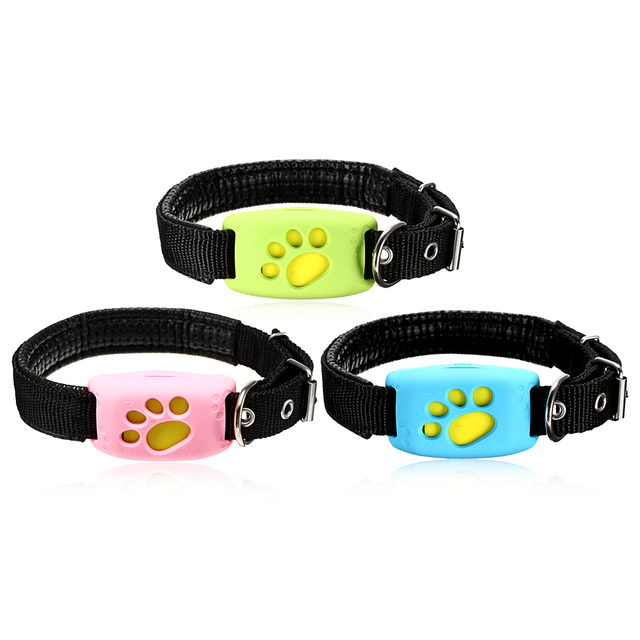 Smart Waterproof Dog Collar Pet Tracker Device Finder Alarm GPS Realtime Location Anti Lost Collars Dog Cat Accessories 3 Colors