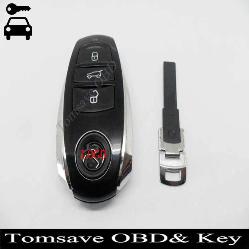 ФОТО Free Shipping High Quality Original Size 3 Buttons Remote Key Card 315Mhz 433Mhz 868Mhz For VW Touareg New Touareg