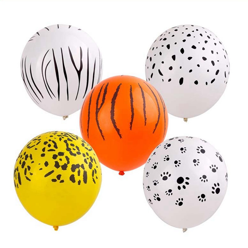 10pcs Latex Animal Balloons Birthday Balloons Jungle Party Safari Party Baloons Jungle Animals Birthday Party Decorations Kids in Ballons Accessories from Home Garden