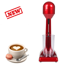 220V Electric Milk Frother for Coffee Milk Foamer Cold and Hot Milking Machine Cappuccino Fancy Coffee Foamer Coffee Food Mixer